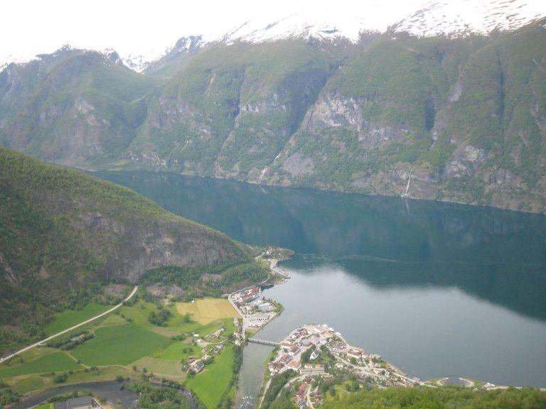 Külföldi utazás, Norvégia Flam fjord látkép